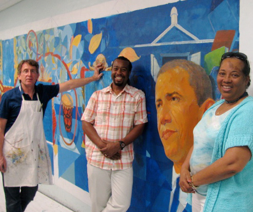Mural, Artist Residency, California Avenue School, Uniondale, NY