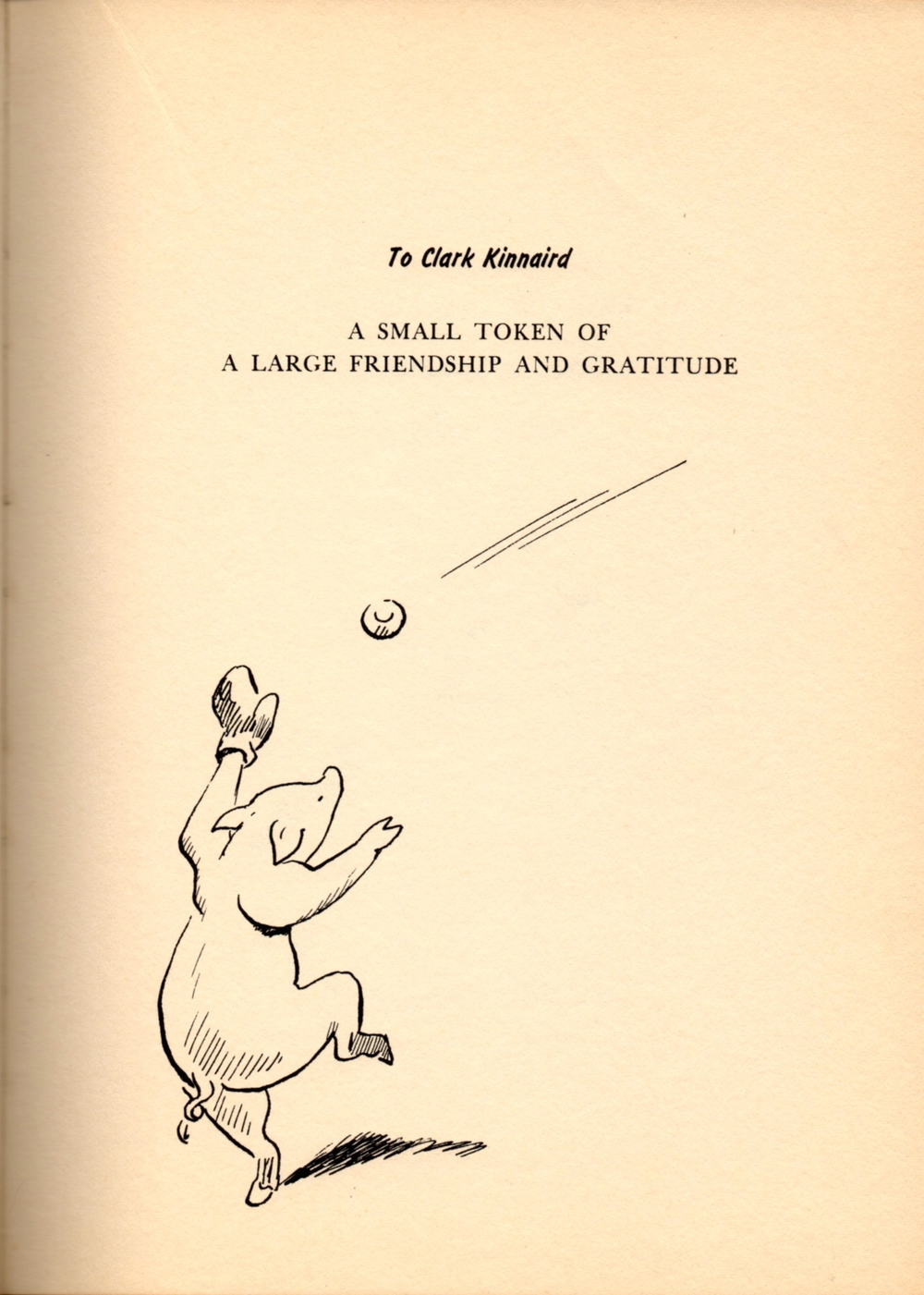 The dedication page