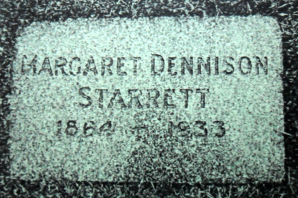 The grave market of Vincent Starrett's mother, Margaret, at Capilano View Cemetery in Vancouver, Canada.