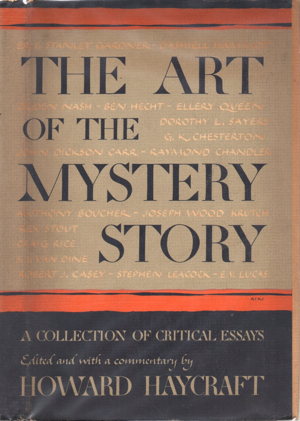 The dust jacket to the first edition of  The Art of the Mystery Story , published in 1946.