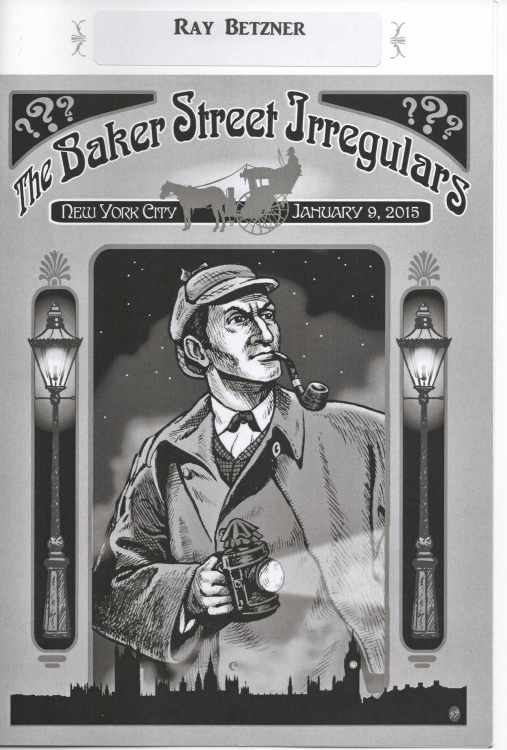 Scott Bond's handsome cover artwork graces this year's dinner program.