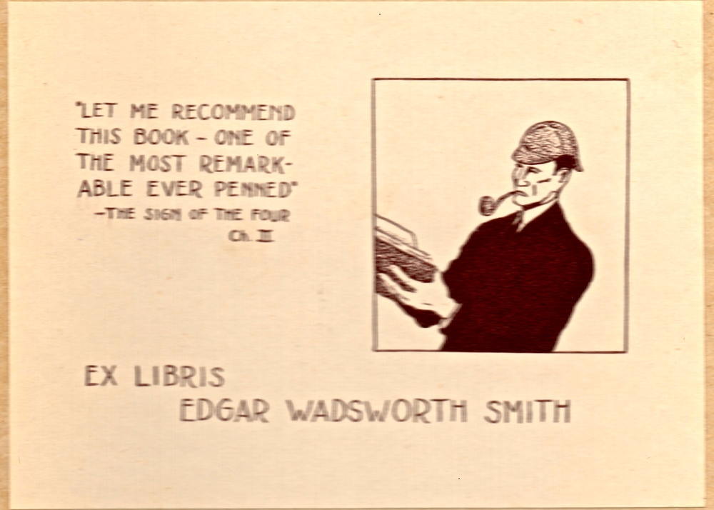 Edgar W. Smith's bookplate.