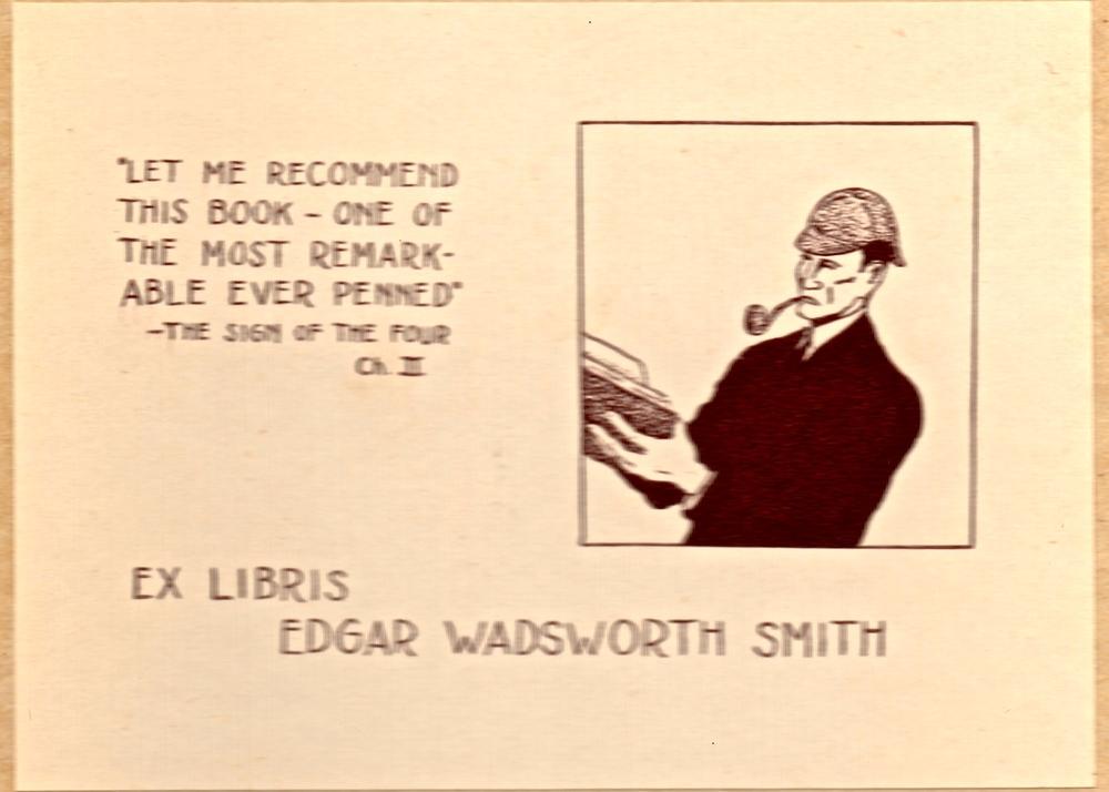 Edgar W. Smith's bookplate.