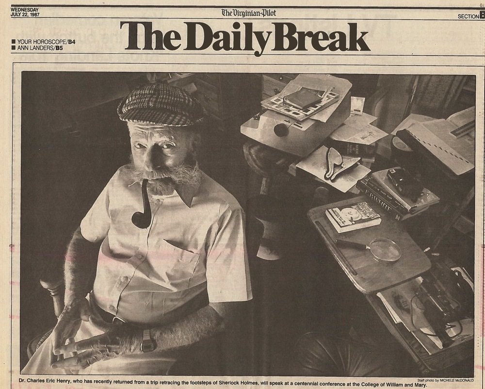 Chuck Henry in a photo from the The (Norfolk) Virginian-Pilot profile published July 22, 1987.