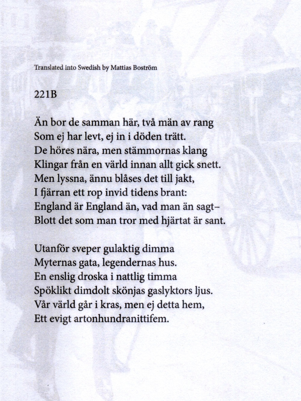 A Swedish translation by Mattias Bostrom