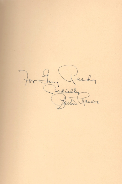 Rascoe's autograph.