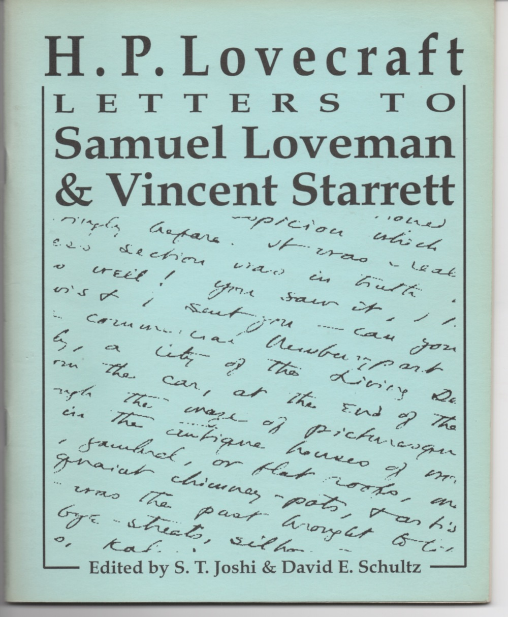 Another source of the correspondence between Starrett and Lovecrafdt is this little booklet, published by the Necronomicon Press in October 1994. Copies come up for sale regularly.