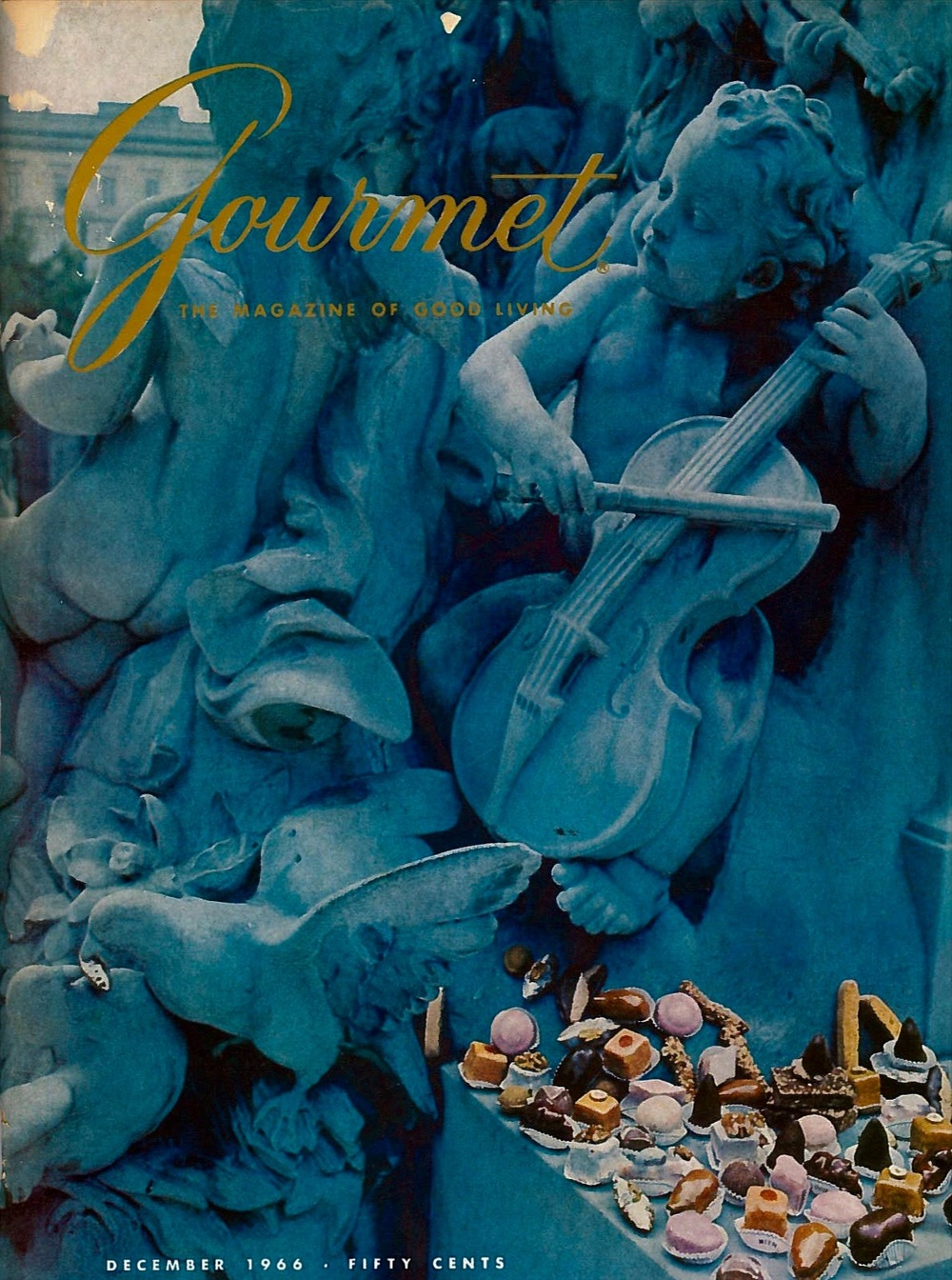 The cherubic cover of Gourmet magazine for December 1966.