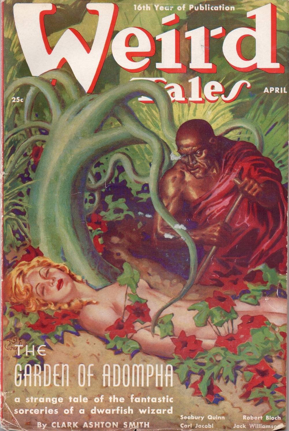 "While I can't afford the December 1932 issue of Weird Tales, I do have a couple of others that feature works by Starrett. This one has an unearthly poem of his called ""Cordelia's Tale."""
