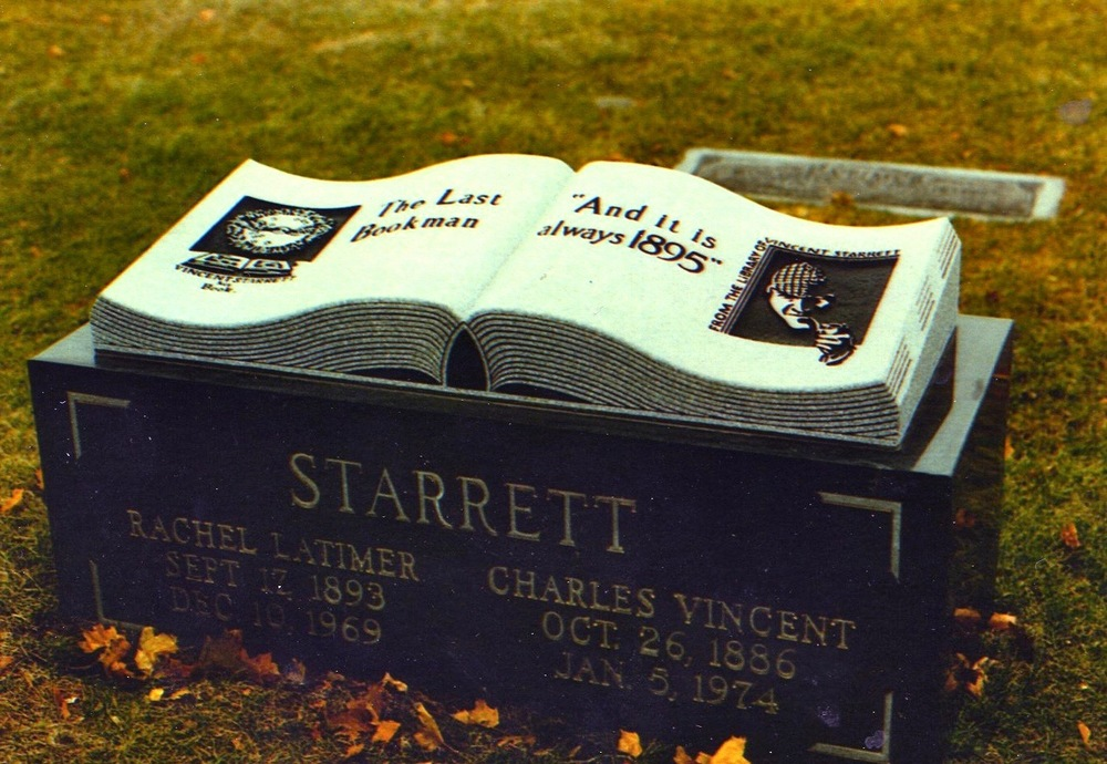 The Starrett tombstone at Graceland Cemetery in Chicago.