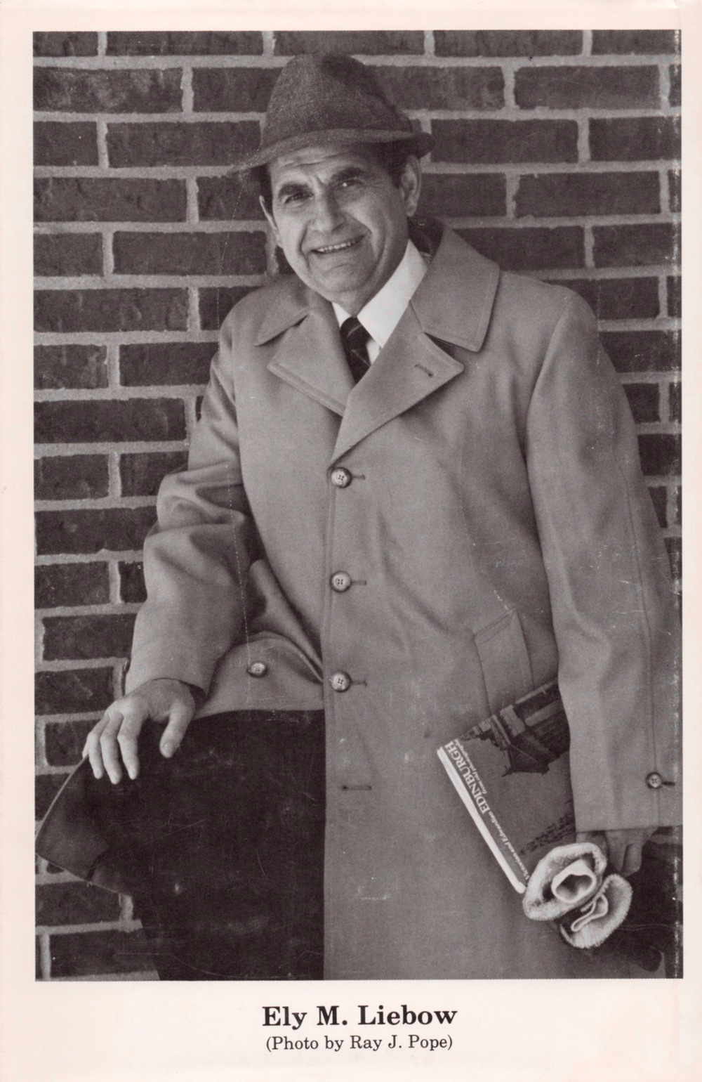 A photo of Ely from the back dust jacket of his book,  Dr. Joe Bell: The Model for Sherlock Holmes.
