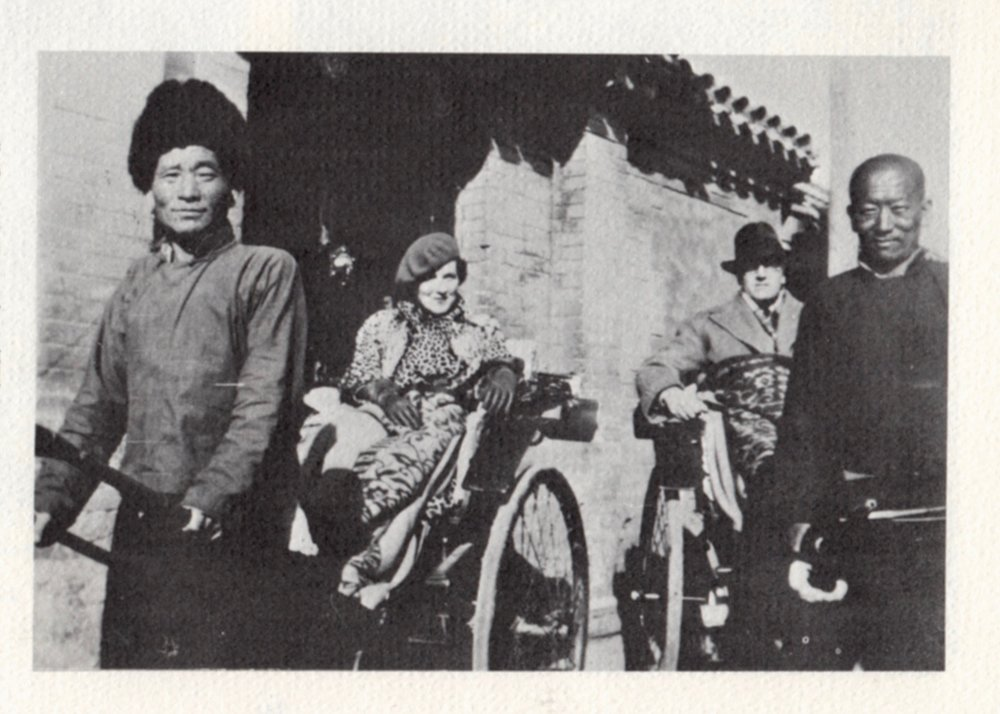 Ray and Vincent Starrett in Peking. From  The Last Bookman  by Peter Ruber.