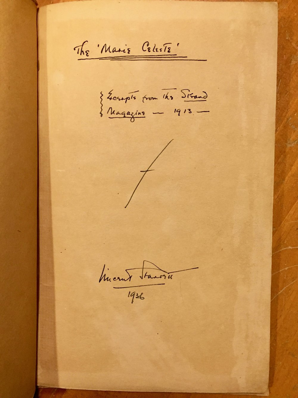 The hand written title page.