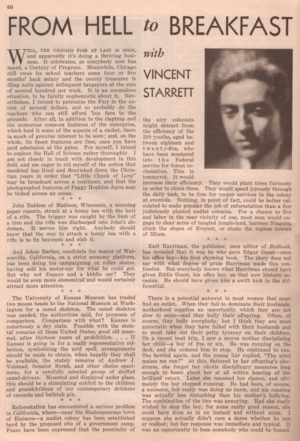 So far as I know, this was the only time Starrett had a column in Real America magazine. If you find another, let me know!