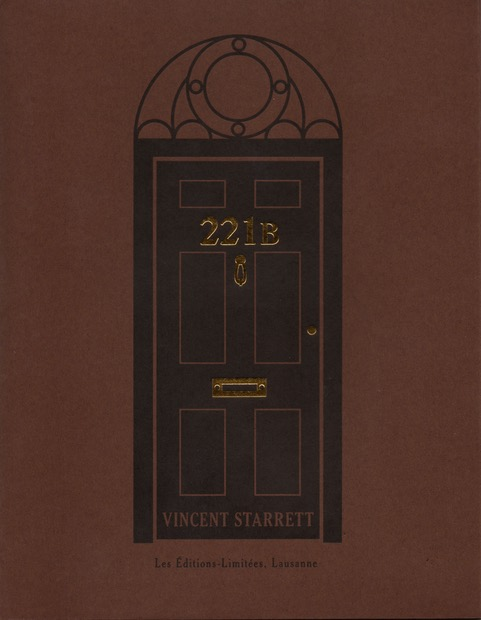 "The cover of a new publication of Vincent Starrett's immortal sonnet, ""221B"""