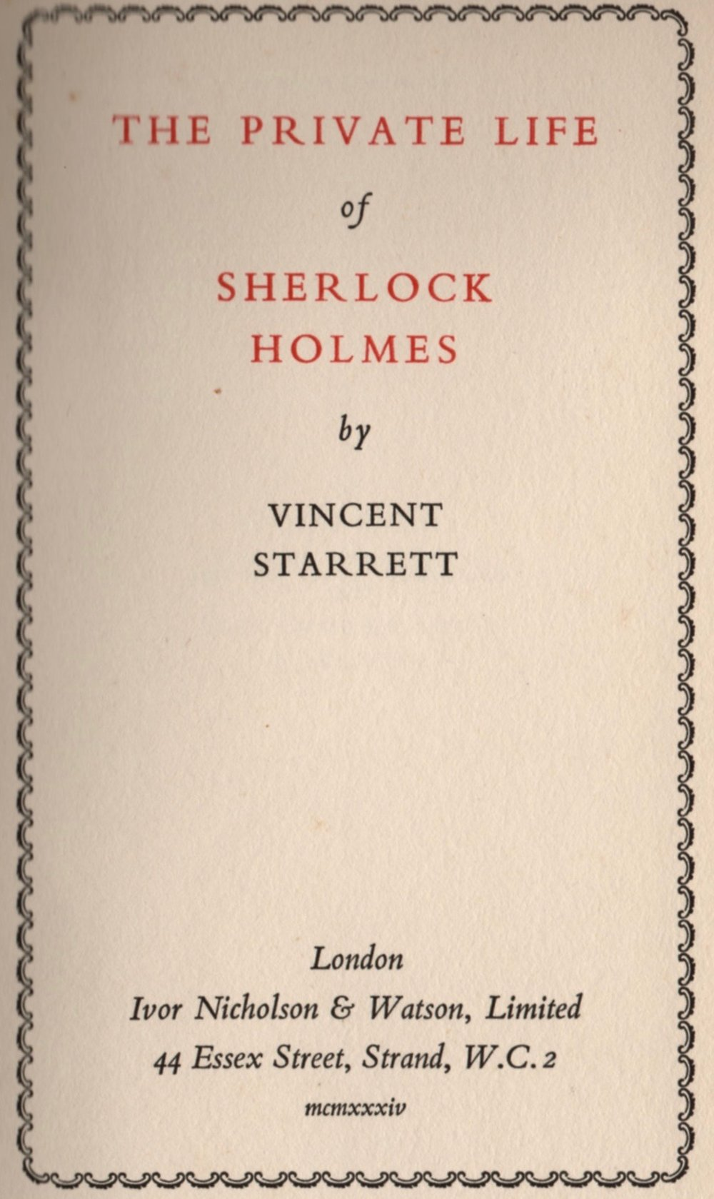 Title page of the first British edition.