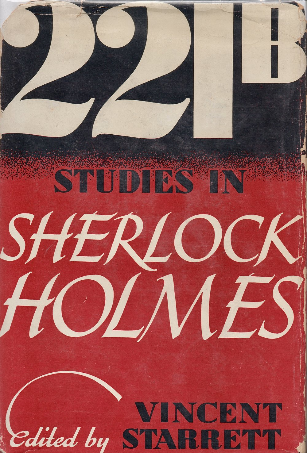 The dust jacket to  221B: Studies in Sherlock Holmes , edited by Starrett.