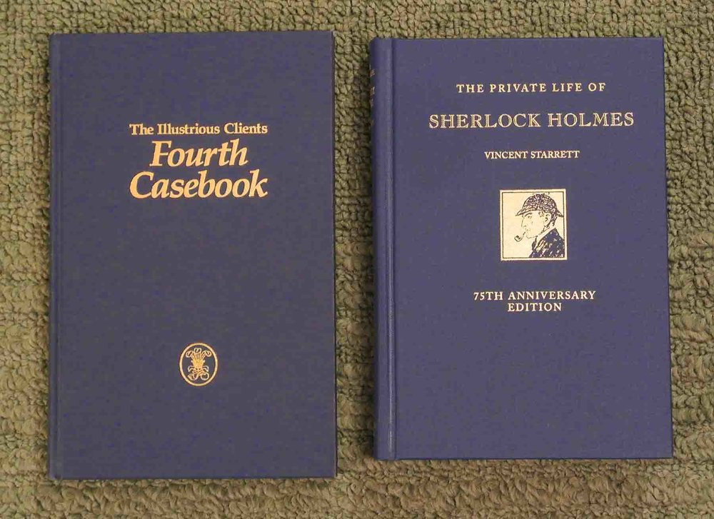 Compare the two covers of  The Illustrious Clients Fourth Casebook  and the 75th anniversary edition of  Private Life.