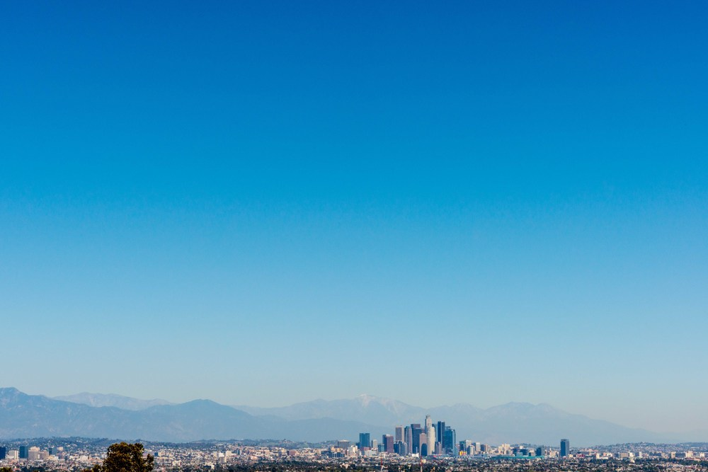 Downtown LA from Kenneth Hahn Sate Park - April 6th, 2014