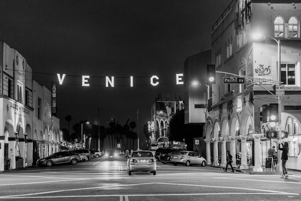 The Venice sign shot from Windward ave