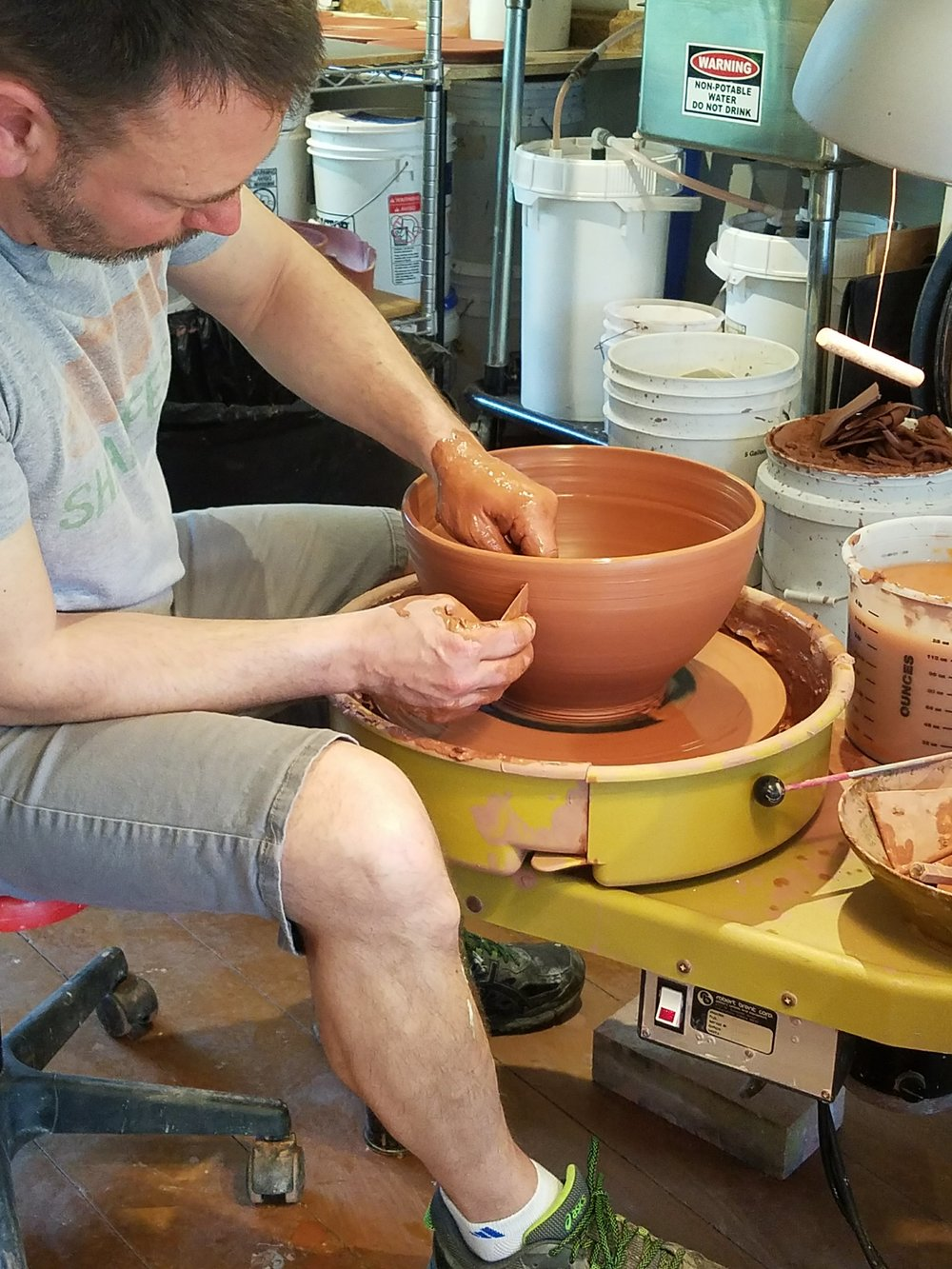 Working with Red Stoneware
