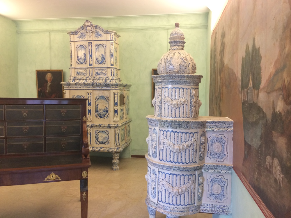 This style of german stoves are frequently showcased in alsace historical homes and museums