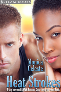 Heat Strokes   by Monica Celeste   Available now!   Amazon ,  Barnes & Noble ,  All-Romance ,  Kobo ,  iTunes ,  Google-Play ,  Scribd    new!