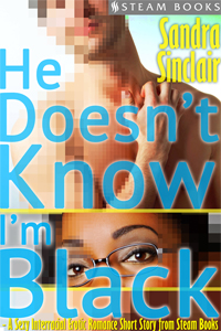 He Doesn't Know I'm Black    by Sandra Sinclair   Shanice is smart, cute, modest - and a proud certified geek! After a victorious round of online videogaming, a fellow player who goes by the handle 'Drach' asks Shanice out on a date. Feeling a connection even through cyberspace, Shanice accepts, but her nerves threaten to get the best of her when she realizes Drach has never seen her and has no idea that she's black. Knowing exactly how it is for a black female geek in a world of presumptuous white nerds, Shanice braces herself for her blind date's reaction during the moment they meet each other in the flesh.    Available Now at Amazon