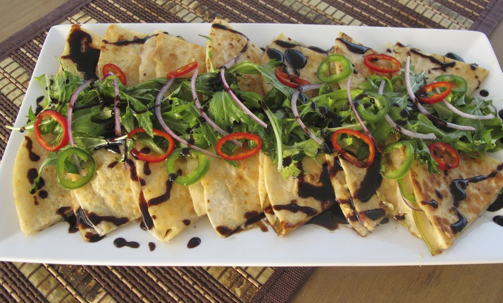 Pear French Brie Red Onion Jalapeño Quesadillas