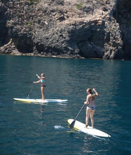 Paddle Boarding at Cueva Valdez Santa Cruz Island Channel Islands