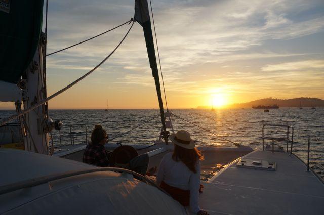 Santa Barbara Coastal Sunset aboard Green Flash