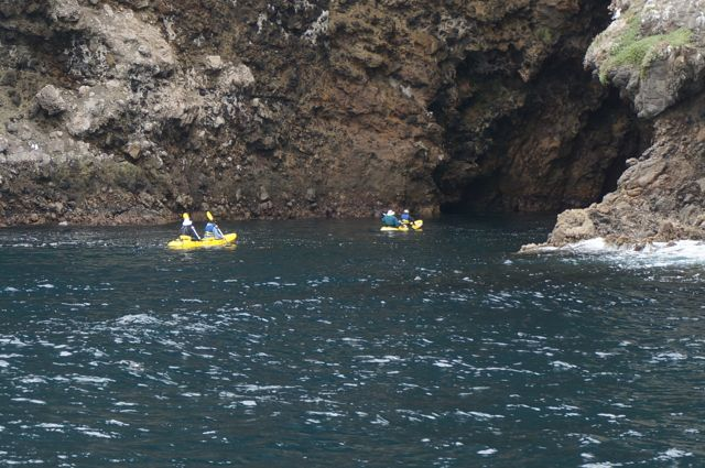 Painted Caves Kayaking Santa Cruz Island
