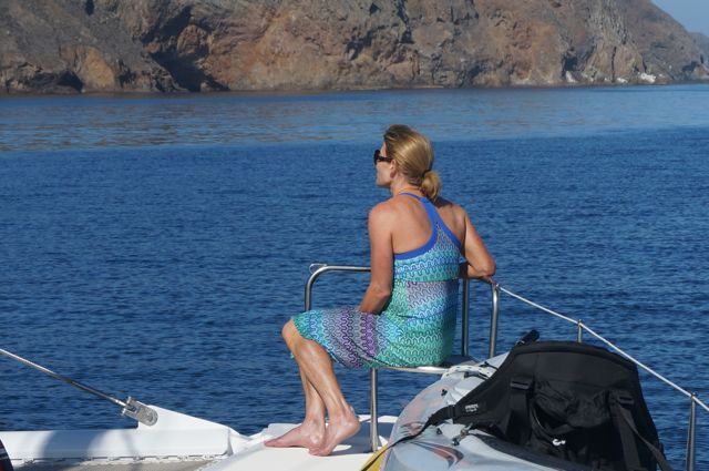 Cruising along the West End of Santa Cruz Island aboard Yacht Green Flash