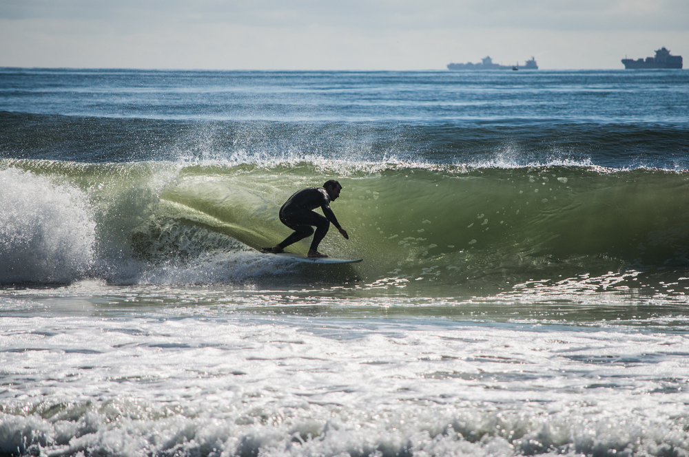 Kolo finding some nice cover despite the onshores. Photo: Andreea Waters