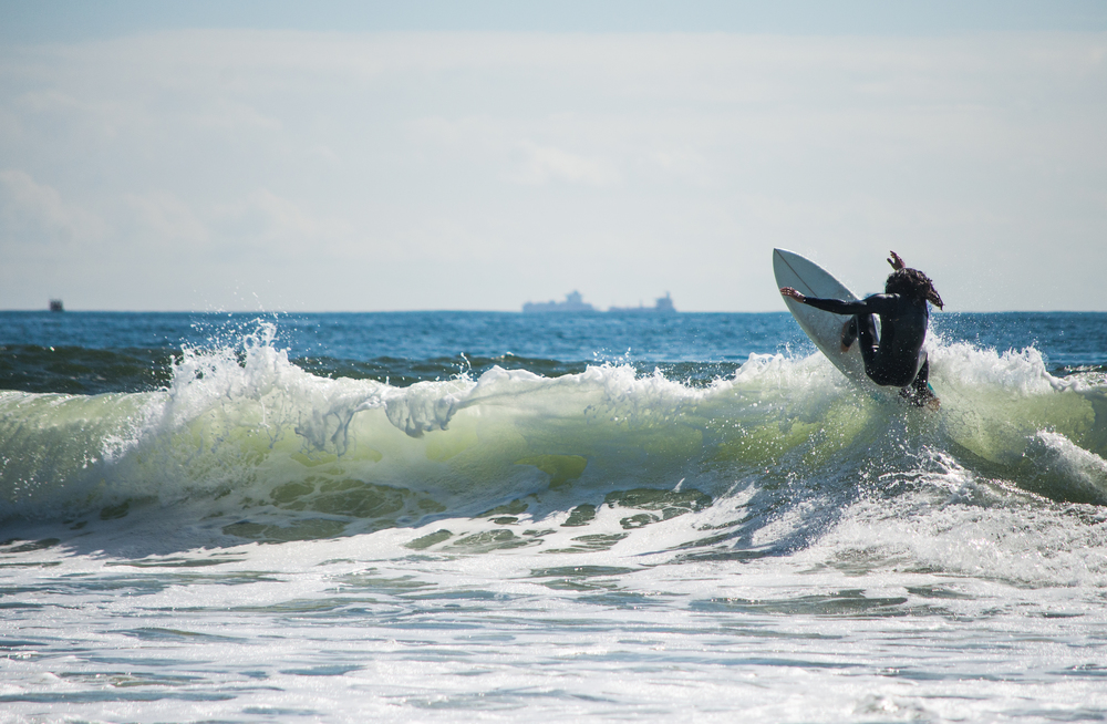 Our friend and local ripper Chris Caiazzo shows us how to do a proper floater. Photo: Andreea Waters