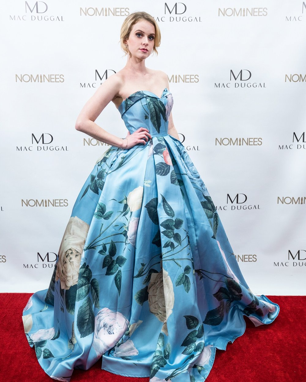 Sponsored by MacDuggal! the designers of this beautiful (and extra) gown