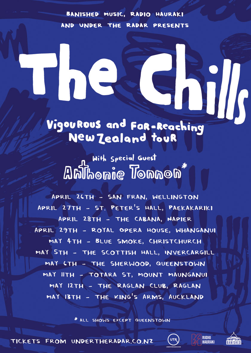 The Chills NZ Tour Poster