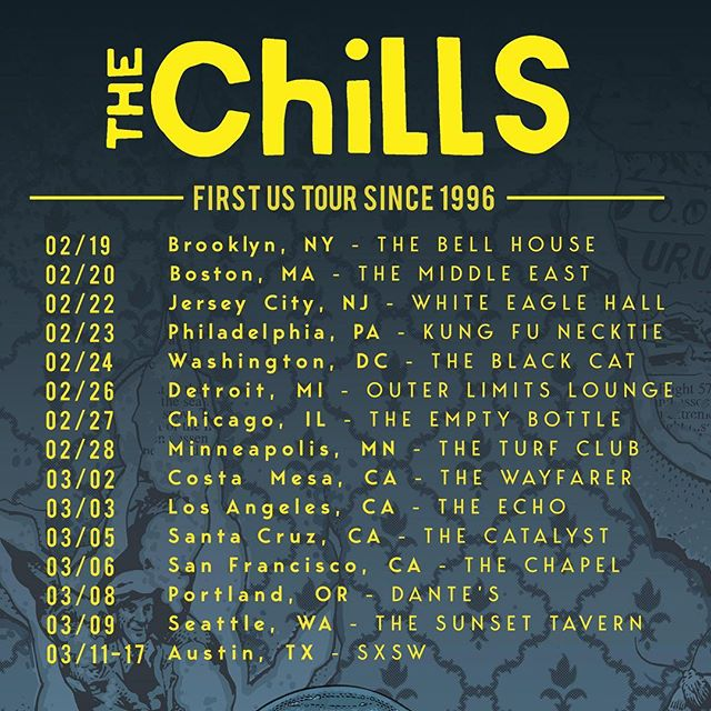 In case you missed these, check out @thechillsnz recently announced 14 date tour of the USA next year - it is their first full tour since 1996! #cantwait #thechills #ontour 🎸 ❄❄