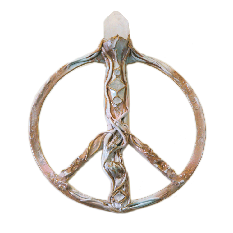 One of a kind Peace Portal collaboration by Erin of Active Culture Family + Adina Mills