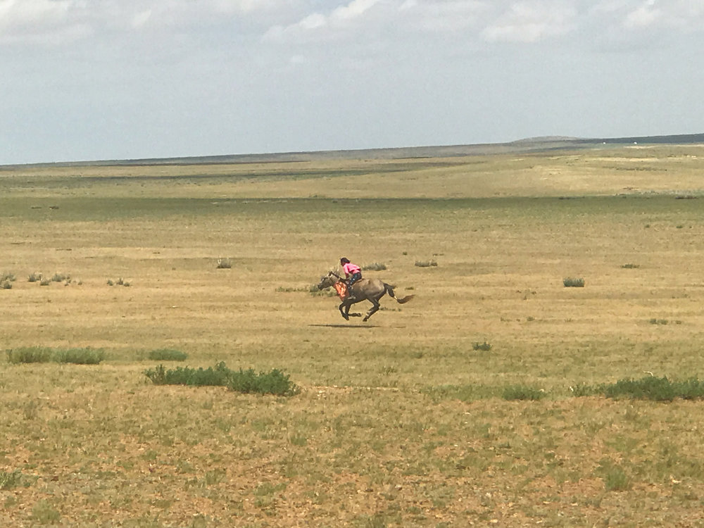 Little girls dreaming big, racing horses in Mongolia. - Al Jazeera story 2017