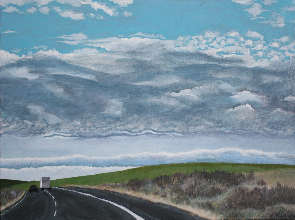 "Palouse #4 - 18""x24"" - SOLD"