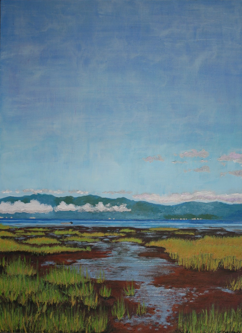 "Willapa Bay Mud Flats - 22""x30"" - SOLD"