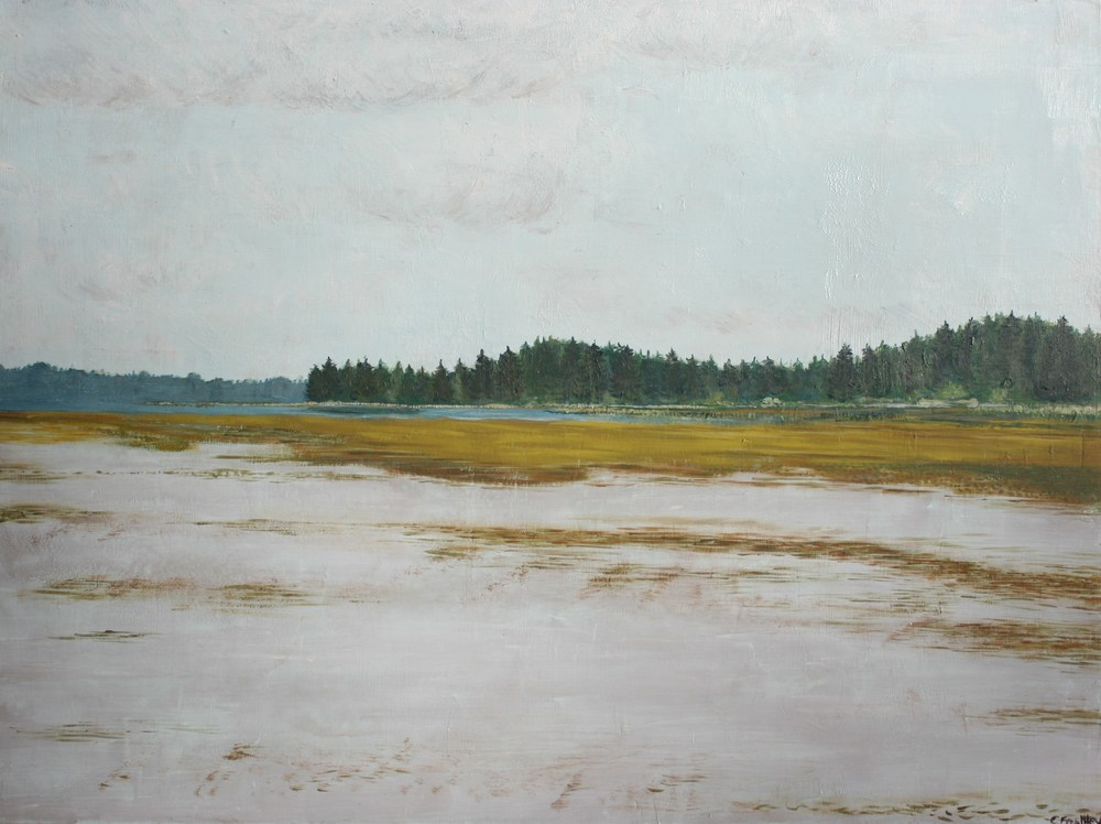 "Willapa Bay Mudflats - 30""x40"" - SOLD"