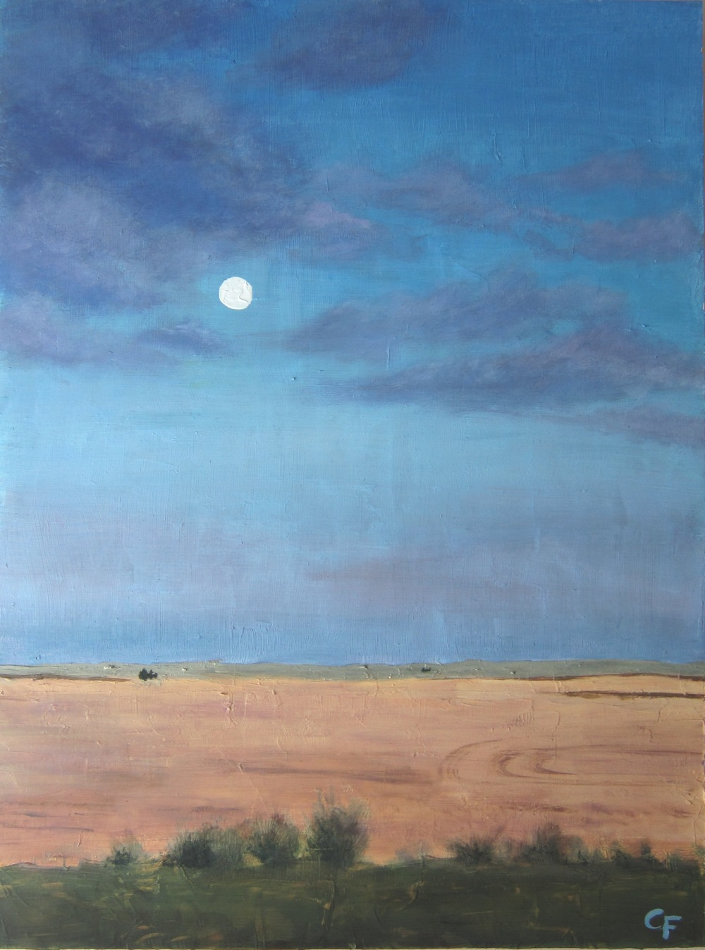 "Moonrise on the Palouse - 18""x24"" - SOLD"