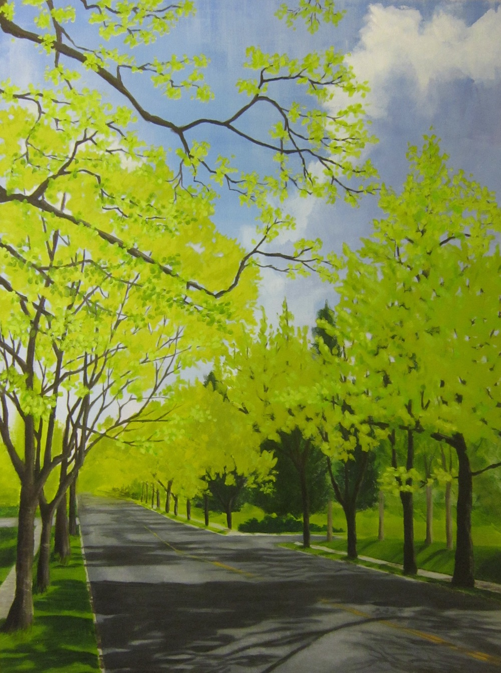 "Grand Avenue in Spring - 30""x40"" - SOLD"