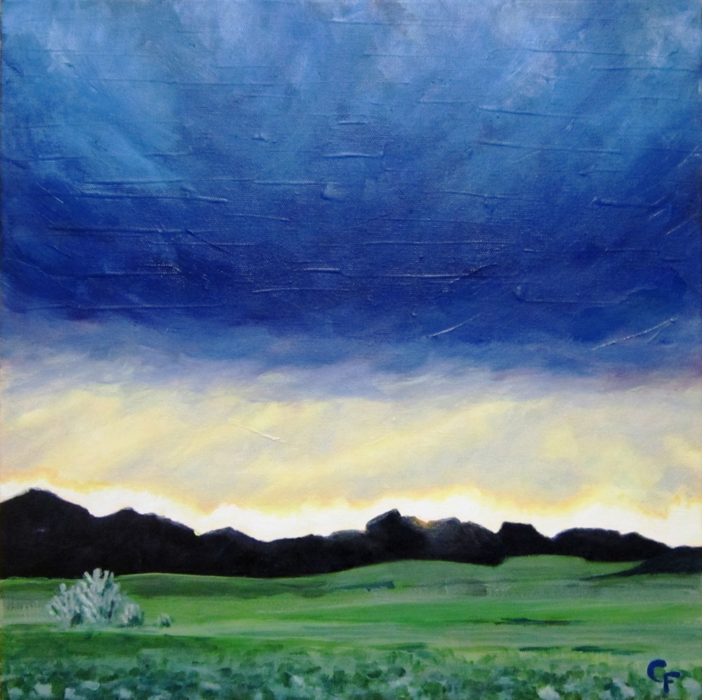 "Colorado Sunset - 16""x16"""