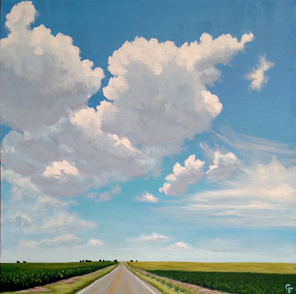"Oklahoma Summer Drive - 24""x24"" - Available here"