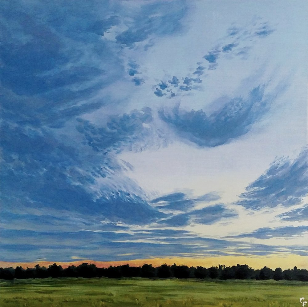 "Enid August Sunset #3 - 24""x24"" - Available  here"