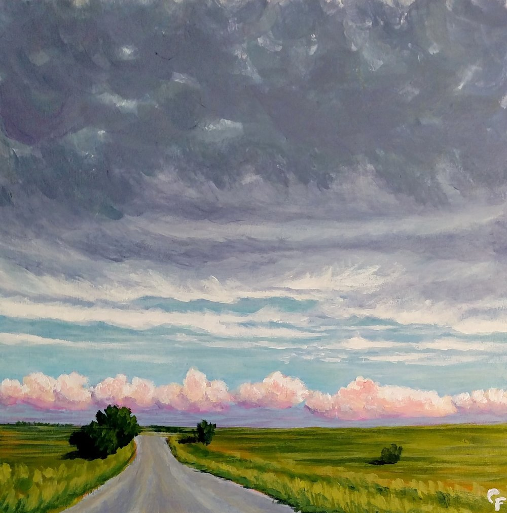 "Gravel Road Drive - 10""x10"" - Available here"