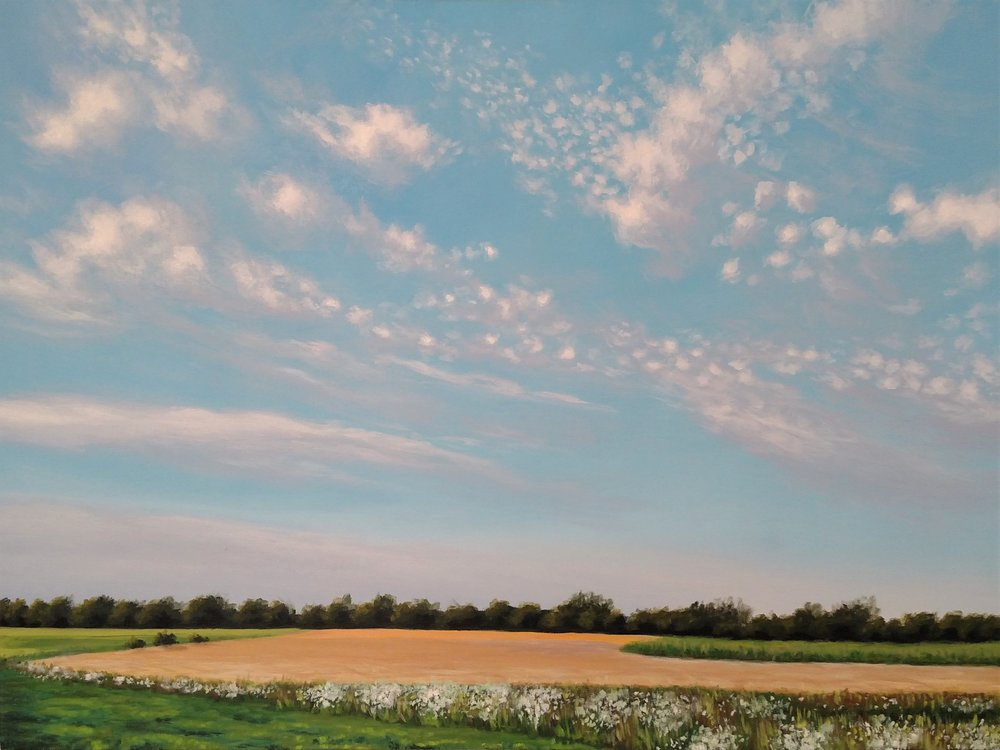 """Evening in Andover,"" 30""x40"""